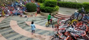 Un cimetière de vélo en Chine
