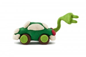 plasticine electric car