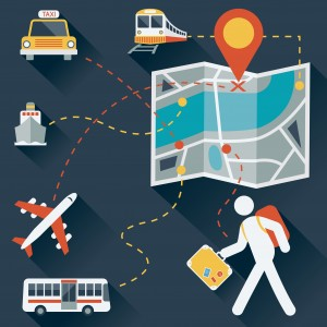 Travel Icon : Map & Transportation