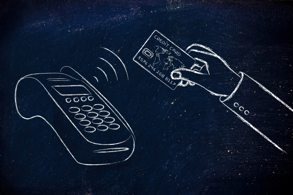 near field communication payments: client paying with contactless card